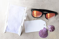 Sunny Flat Lay Summer Label With Copy Space