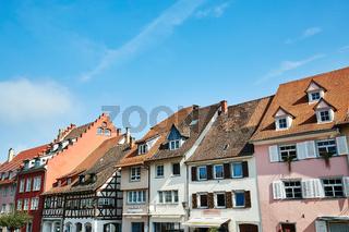 Häuserzeile in Überlingen am Bodensee