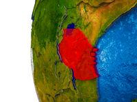 Tanzania on 3D Earth