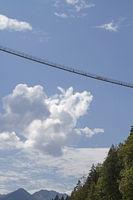 Highline südlich von Reutte in Tirol