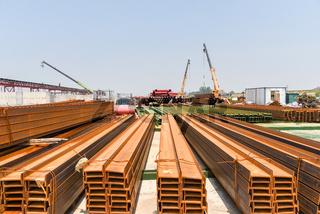 joist steel on construction site
