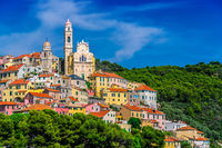 The village of Cervo on the Italian Riviera in the province of Imperia