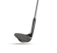 Black Golf Club Wedge Iron on White Background