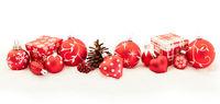 Weihnachten Hintergrund Banner in rot