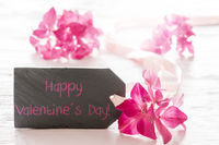 Hydrangea Blossom, English Text Happy Valentines Day