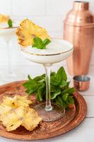 Leckerer Cocktail in Stielglas