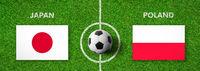 Football match Japan vs. Poland