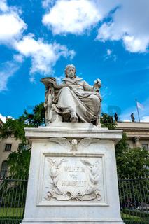 Humboldt Statue in Berlin
