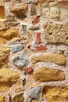 Ancient masonry of rough stones
