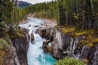 Autumn trip to waterfall