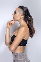 Fashion Beauty Girl Profile Portrait