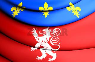 3D Flag of Lyon