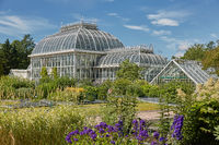 Kaisaniemi botanic garden and its greenhouse in Helsinki Finland