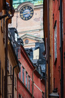 Tower clock in the old town, Stockholm