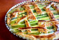 Asparagus cake top view