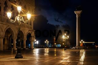 At night in Venice