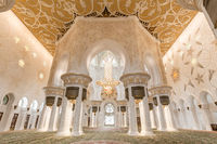Sheikh Zayed Grand Mosque in Abu Dhabi, UAE, beautiful interior
