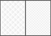White 3D Grid Texture in Two Variations