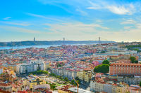Skyline of Lisbon old town