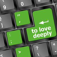 to love deeply, keyboard with computer key button