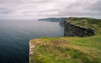 At the cliffs of moher in ireland