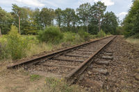 Old railway line Borkense Course in the Netherlands
