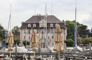 Historisches Gebäude am Hafen von Lindau Insel, Bodensee