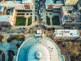 hoto of the city from a bird's-eye view.
