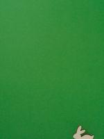 Ostern Hintergrund mit kleinem Osterhasen auf grün