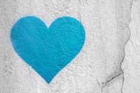Light blue urban Heart