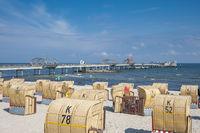 Strand mit Seebrücke in Kellenhusen