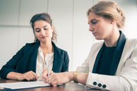 Business women Signing Contract