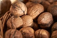 Walnuts in a pile