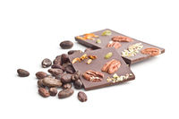 Chocolate bar with various nuts.
