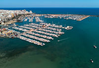 Torrevieja port, aerial view