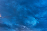Sky and clouds afrer dark