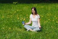 Woman enjoy nature