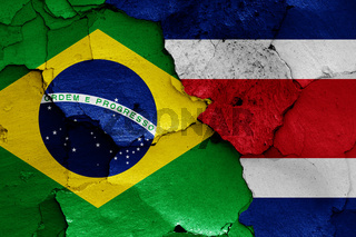 flags of Brazil and Costa Rica