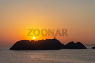 Sunrise off the coast of Oman.
