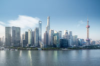 beautiful shanghai skyline