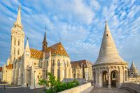 Fisherman's Bastion and the Matthias Church in Budapest, Hungary