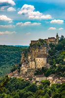 Rocamadour beautiful clifftop village in south-central France.