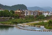 Stones bridge in Wulingyuan - Tianzi Avatar mountains nature park China