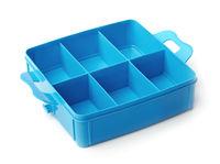 Blue plastic organiser box