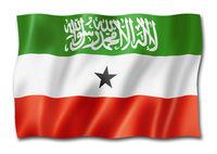 Somaliland flag isolated on white