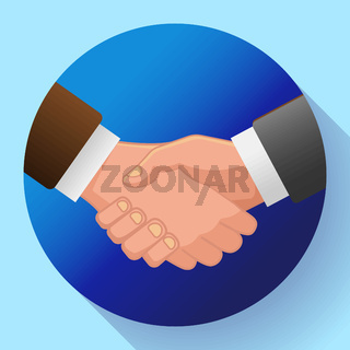 handshake icon, contract icon agreement icon for app or website
