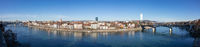 panoramic view Basel Swiss with river Rhine