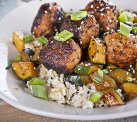 Meatballs With Rice And Zucchini