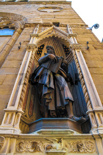 Statues of the Orsanmichele church in Florence