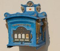 Historischer Briefkasten in Weiler i. Allgäu, Weiler-Simmerberg, Bayern